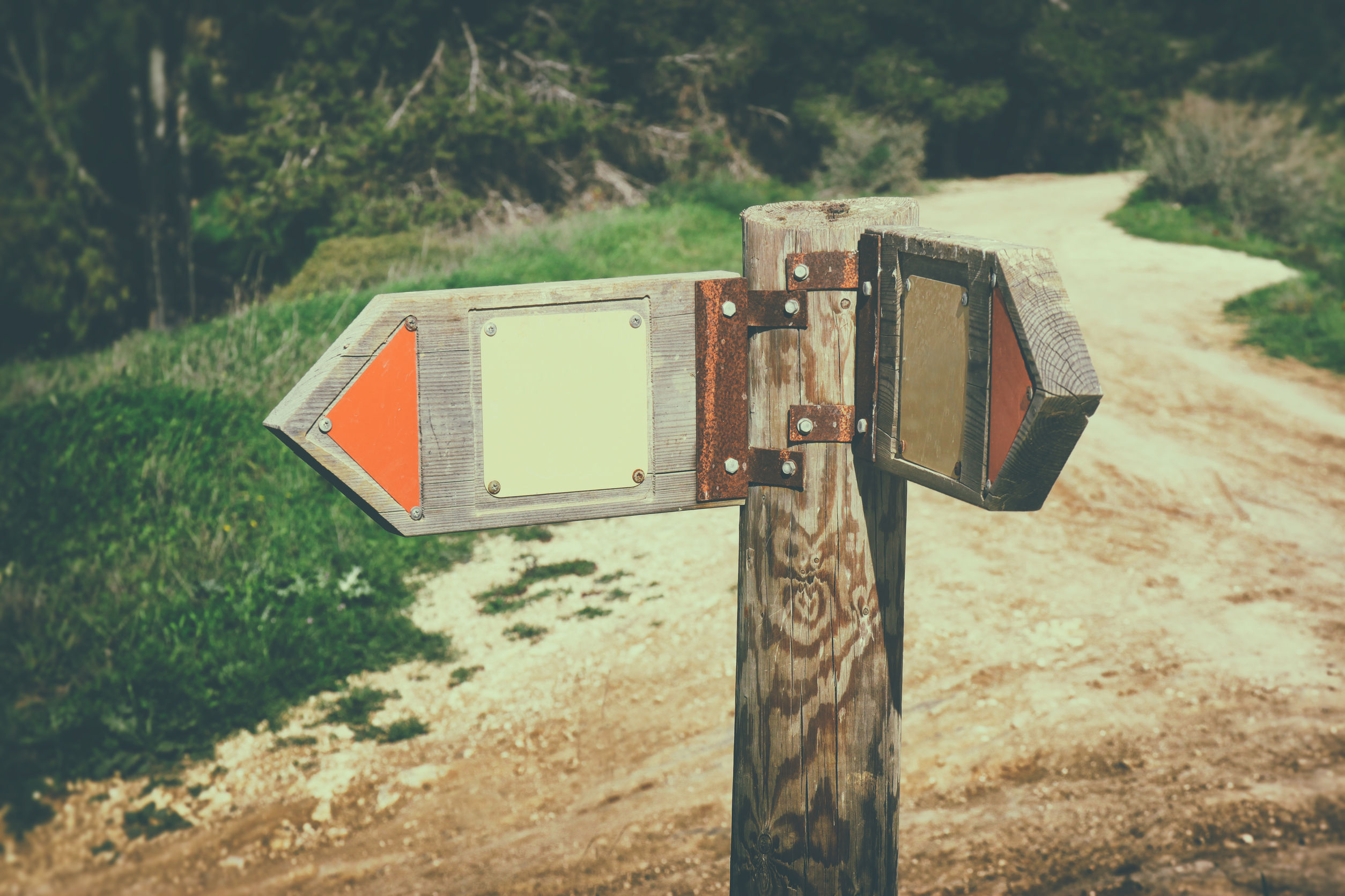 signpost vägvisare vägval